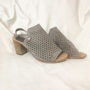 Shoes - Perforated slingback heels